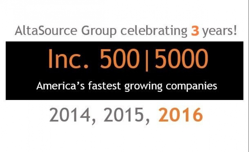 AltaSource Group named to US INC500 INC5000 fastest growing U.S. Private company list